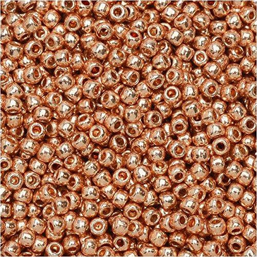 Toho Round Seed Beads 11/0 #PF551 - Permanent Finish Galvanized Rose Gold (8g) 11/0 Toho Seed Beads