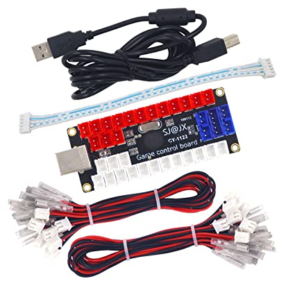 Amazon com: SJ@JX Arcade DIY Kit LED USB Encoder Board Zero Delay