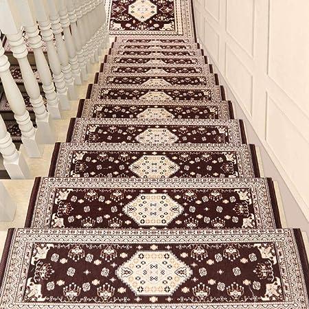 XOCKYE Alfombras para escaleras escalones Banda de Rodadura Mat Antideslizante Felpudo Alfombra Mat @Marrón_26 × 75 cm: Amazon.es: Hogar