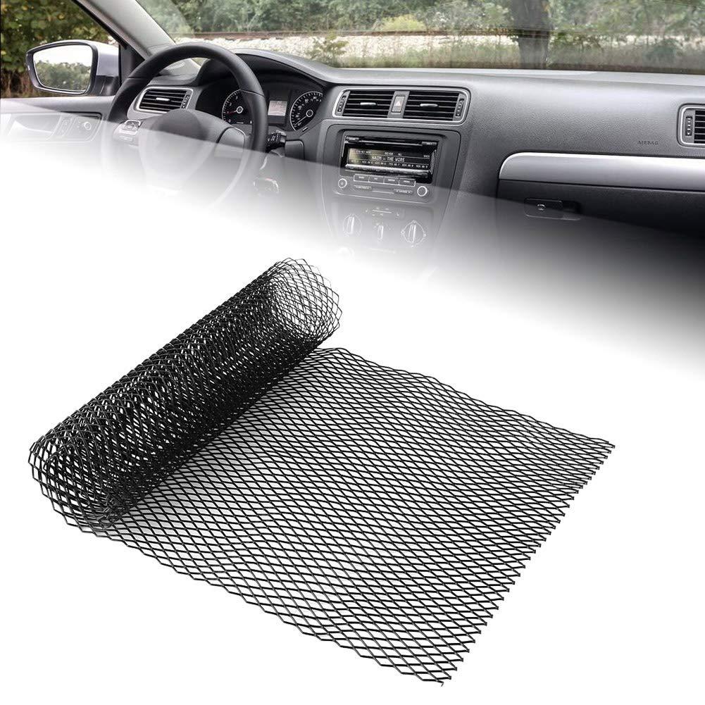 13 pulgadas Fydun Rejillas frontales de radiador Parachoques delantero cubierta malla rejilla cubierta Negro Aleaci/ón de Aluminio 40