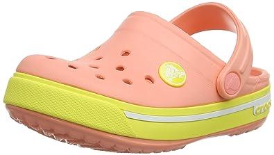 Crocs Crocband II.5, Unisex Kids' Clogs - Orange (Melon/Chartreuse