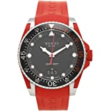 [グッチ] 腕時計 メンズ GUCCI YA136309 ?464486 I16X0 8561 ブラック シルバー レッド [並行輸入品]