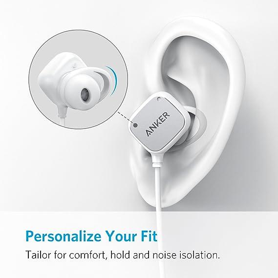 Anker SoundBuds Auriculares inalámbricos Auriculares Bluetooth, magnéticos Inteligentes con tecnología aptX, cancelación de Ruido de CVC 6.0, ...