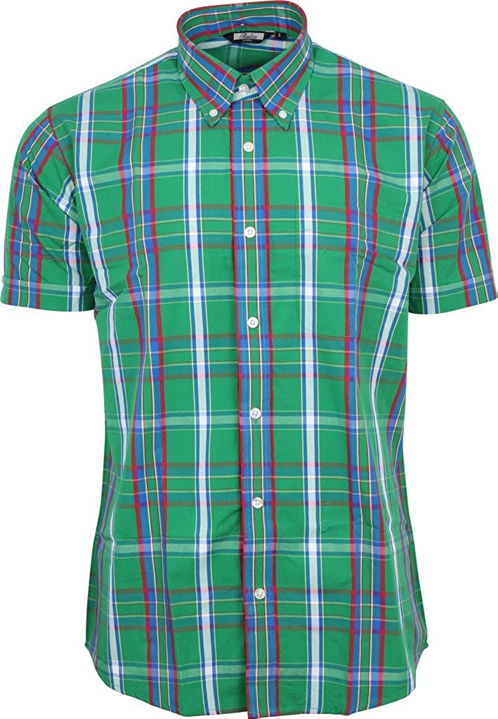 Relco 100/% Cotton Short Sleeved CK 22 Black Vintage//Retro Mod Button Down shirts
