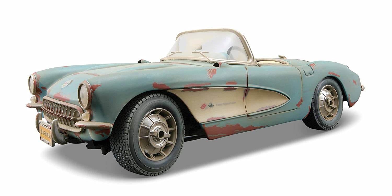 Amazon.com: 1957 Chevrolet Corvette Rusty Old Friends Diecast Car ...