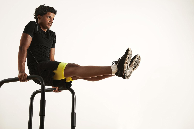 MSPORTS Barras paralelas de fitness prémium (par) 80 x 65 cm | Barra de soporte para flexiones I estación de entrenamiento