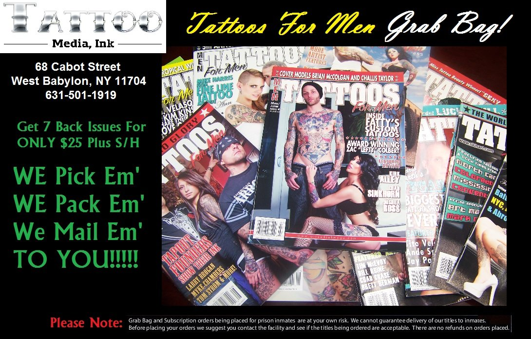 Tattoos For Men Magazine Grab Bag - 7 Issues For ONLY $25 PDF