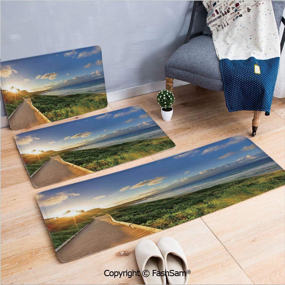 3 alfombrillas de franela para puerta, diseño de playa cubana ...