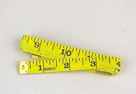 giallo 150 centimetri 60 Soft righello di plastica panno Sarto Cucito misura di nastro