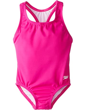 df6409ae3f4b7 ... Toddler Girls UPF 50+ One Piece Swimsuit. 93 · Speedo Little Girls'  Learn-To-Swim Solid Racerback Swimsuit