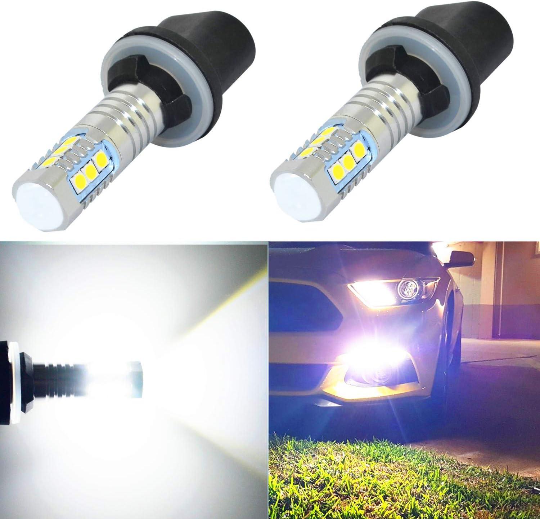 Alla Lighting 899 880 LED Fog Light Bulbs Xtreme Super Bright 892 880 LED Bulb 3030-SMD LED 880 Bulb for Auto Motorcycle Cars Trucks SUV Fog DRL Lights (880 (899 886), 6000K White)