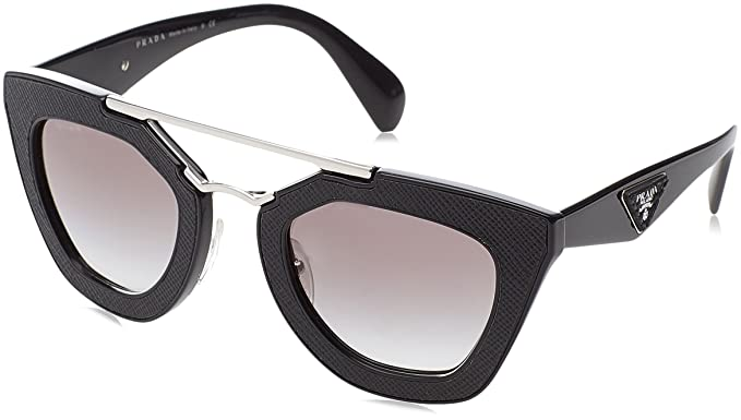 aa61ec63e67e7 Amazon.com  Prada Women s 0PR 14SS Black Grey Gradient  Prada  Clothing