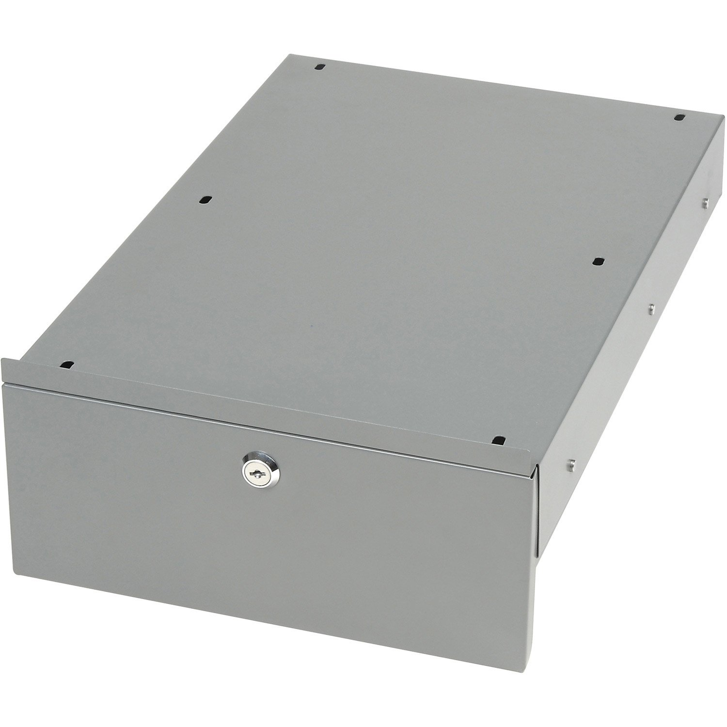 Locking Steel Drawer with Divider for Plastic or Steel Carts, 10-3/4''W x 18''D x 4-1/2''H