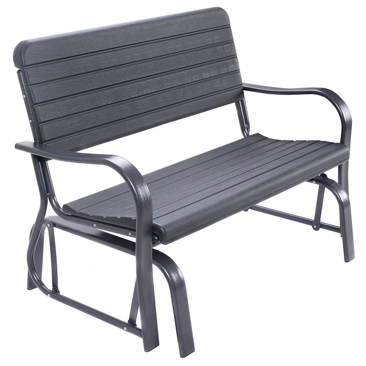 Outdoor Patio Swing Porch Rocker Glider Loveseat Garden Seat Steel Bench US .#GG4346 43ETR98-Y159419