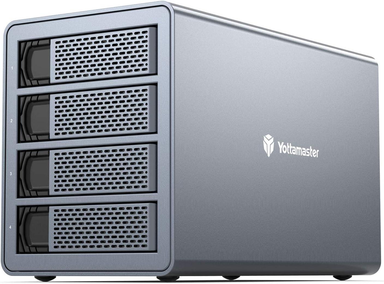 Yottamaster 4 Bay RAID External Hard Drive Enclosure 2.5