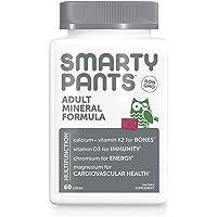 SmartyPants Adult Daily Mineral Vitamins: Calcium, Magnesium Citrate, D3, Zinc & Chromium for Immune Support, Energy…