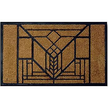 Amazon Com Frank Lloyd Wright Lake Geneva Tulip Doormat