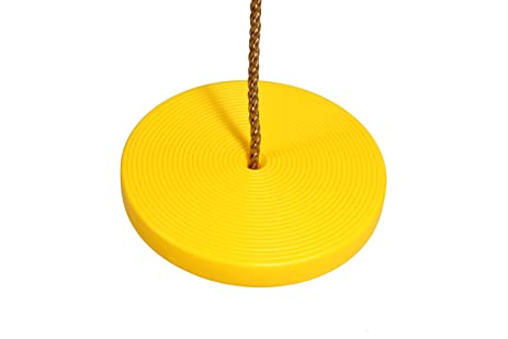 Ordinaire Garden Swing Plastic Disk Seat Swing Hanging Seat Accessories With 2pcs  Snap Hooks (yellow)