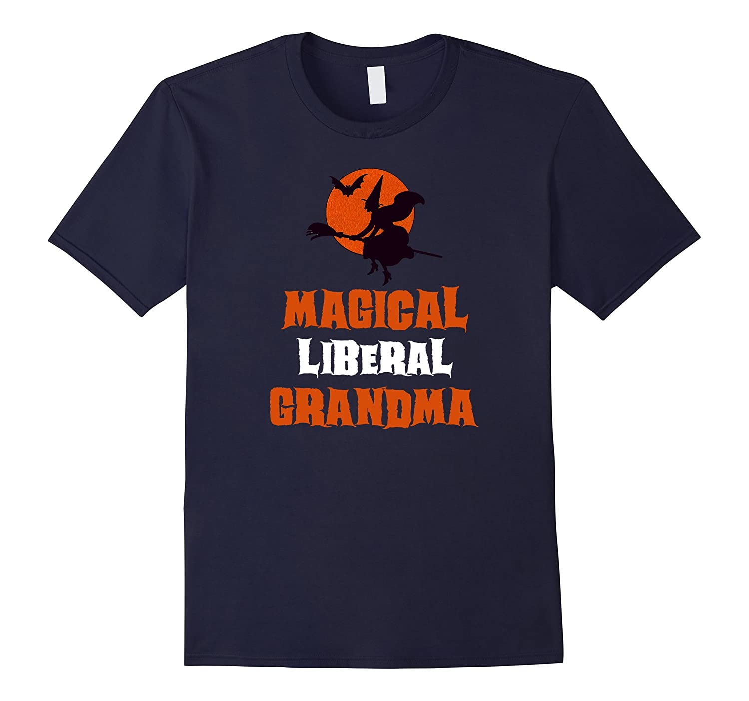 Magical Liberal Grandma Flying Witch T-Shirt-FL