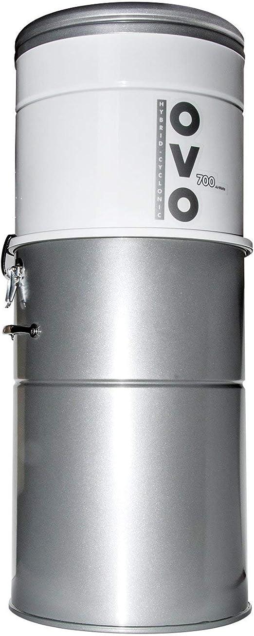 OVO OVO-700ST-35H - Aspirador centralizado, Acero, Gris, 1700 W ...