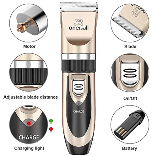 oneisall Rechargeable Cordless Dog Shaver Clipper