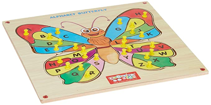 Zitto Premium Wooden Learn Alphabets Butterfly Educational Puzzle Toy