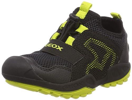 Geox NEW SAVAGE Baskets Basses Noires Garçon | Geox site