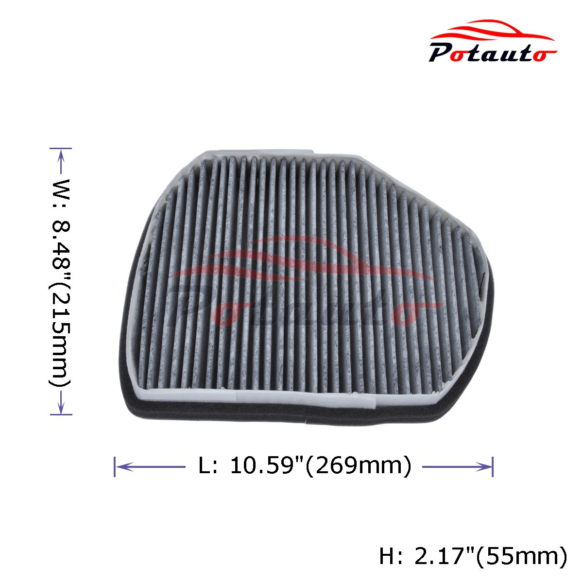 Potauto Map 4004c Heavy Activated Carbon Car Cabin Air Filter Slk230 Fuel Replacement Compatible With Chrysler Crossfire Mercedes C Class Clk Slk