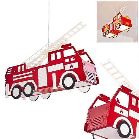 Lámpara colgante infantil Praya de plástico rojo, coche de ...