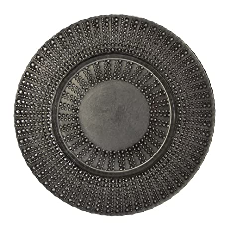 10 Strawberry Street Aztec 13u0026quot; Glass Charger Plate Set of 6 Black/  sc 1 st  Amazon.com & Amazon.com | 10 Strawberry Street Aztec 13