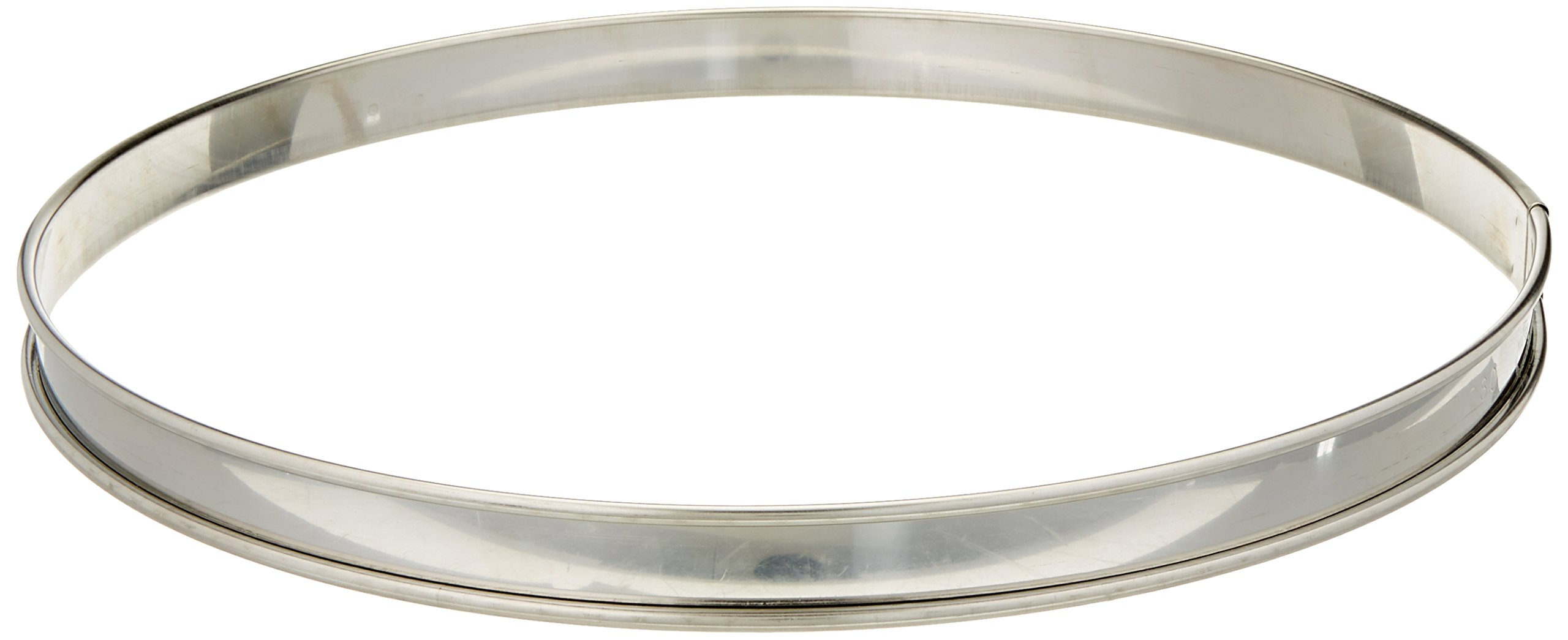 Matfer Bourgeat 371617 Plain Tart Ring, Silver