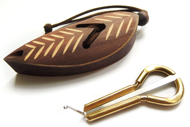 Jew's Harp by P.Potkin in a Dark Wooden Case (Mouth Musical Instrument) Shamanicshop