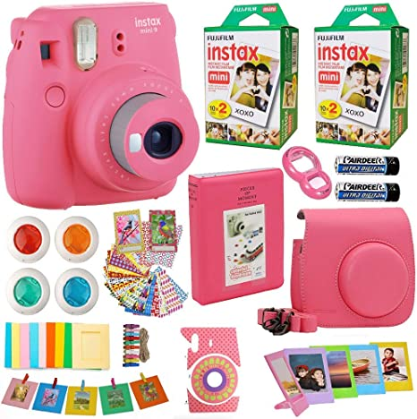 Fujifilm Instax Mini 8 Cámara instantánea Flamingo Rosa + 2 x Fuji ...