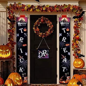 Amazon.com: AivaToba Cartel de Halloween para porche ...