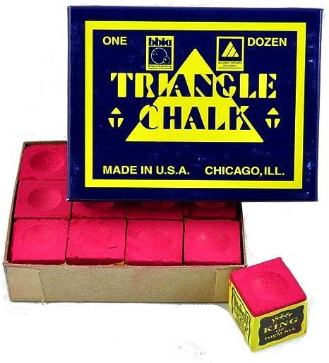 Triangle - Tiza para tacos de billar (12 unidades), color rojo ...