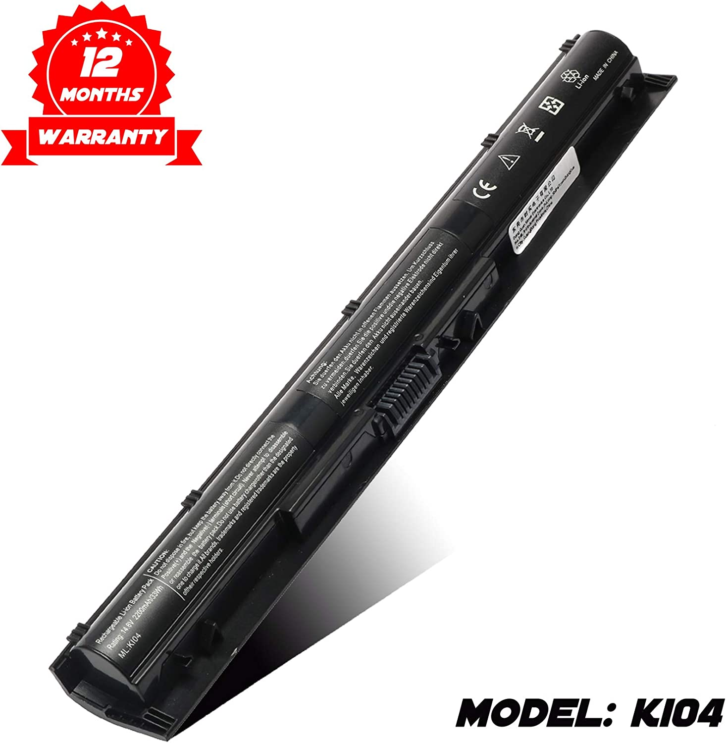 K104 Notebook Battery for HP Pavilion 14-ab 14T-ab 15-ab 15-an 15T-ab 17-g Series Laptop fits KI04 Spare 800049-001 800050-001 800009-421 800010-421 HSTNN-LB6S HSTNN-LB6R TPN-Q158 Q159 Q160