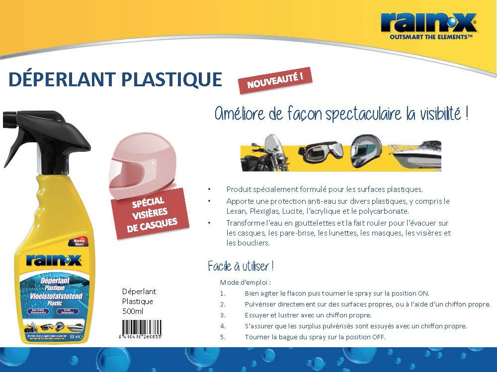 RainX - Plástica Repelente al agua, Spray, 500 ml: Amazon.es: Coche y moto