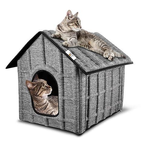 PUPPY KITTY 2 Piezas Casa de Gato Plegable para Exterior con ...