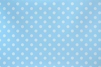 1 X Blue Polka Dots New Born Baby Boy Christening Birthday Gift Wrap