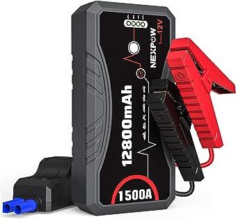 NEXPOW Car Battery Starter Q10S, 1500A Peak 12800mAh 12V Car Jump Starter