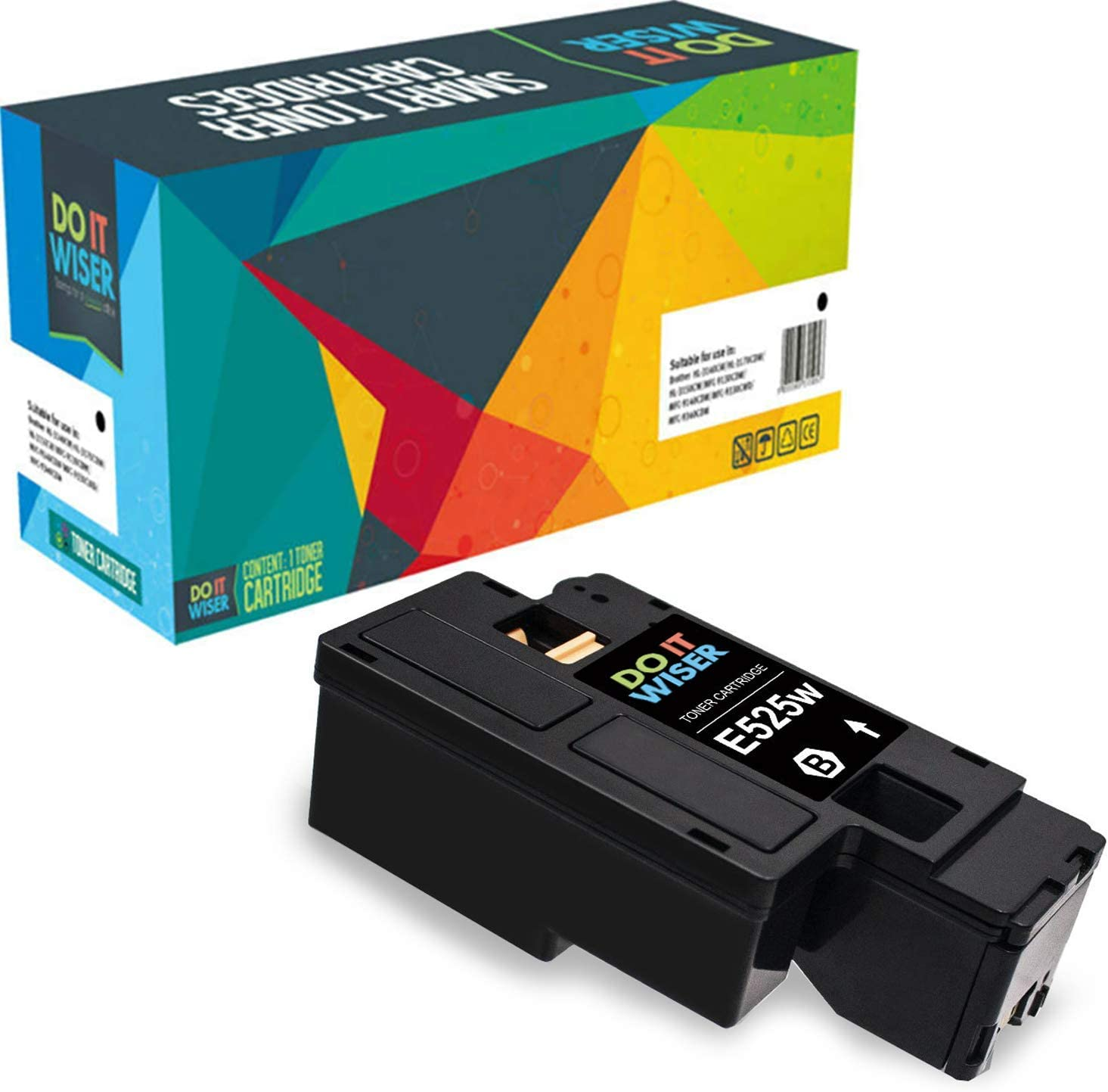 Do it Wiser Compatible Toner Cartridge Replacement for Dell E525W E525 525W | 593-BBJX Black