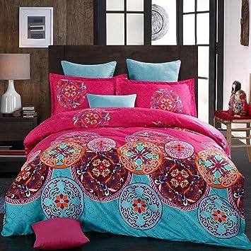 135x200 Boho Indischen Mandala Böhmisch Wendebettwäsche Set Vintage Bettbezüge