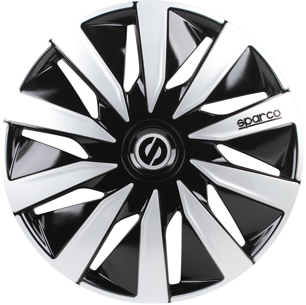 Amazon.com: Sparco SPC1391BKSV Wheel Covers Lazio 13-inch Black/Silver: Automotive