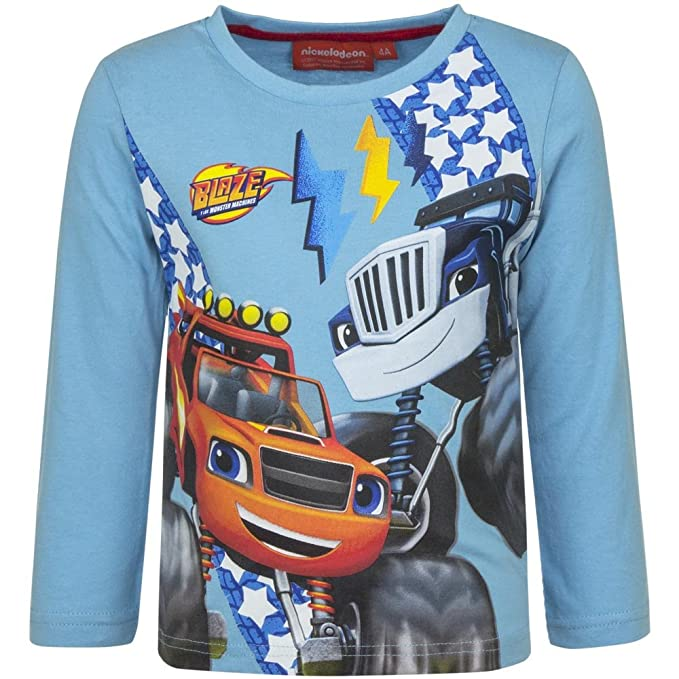 Blaze and the Monster Machines Long Sleeve Tops (8yrs, Grey): Amazon.co.uk:  Clothing
