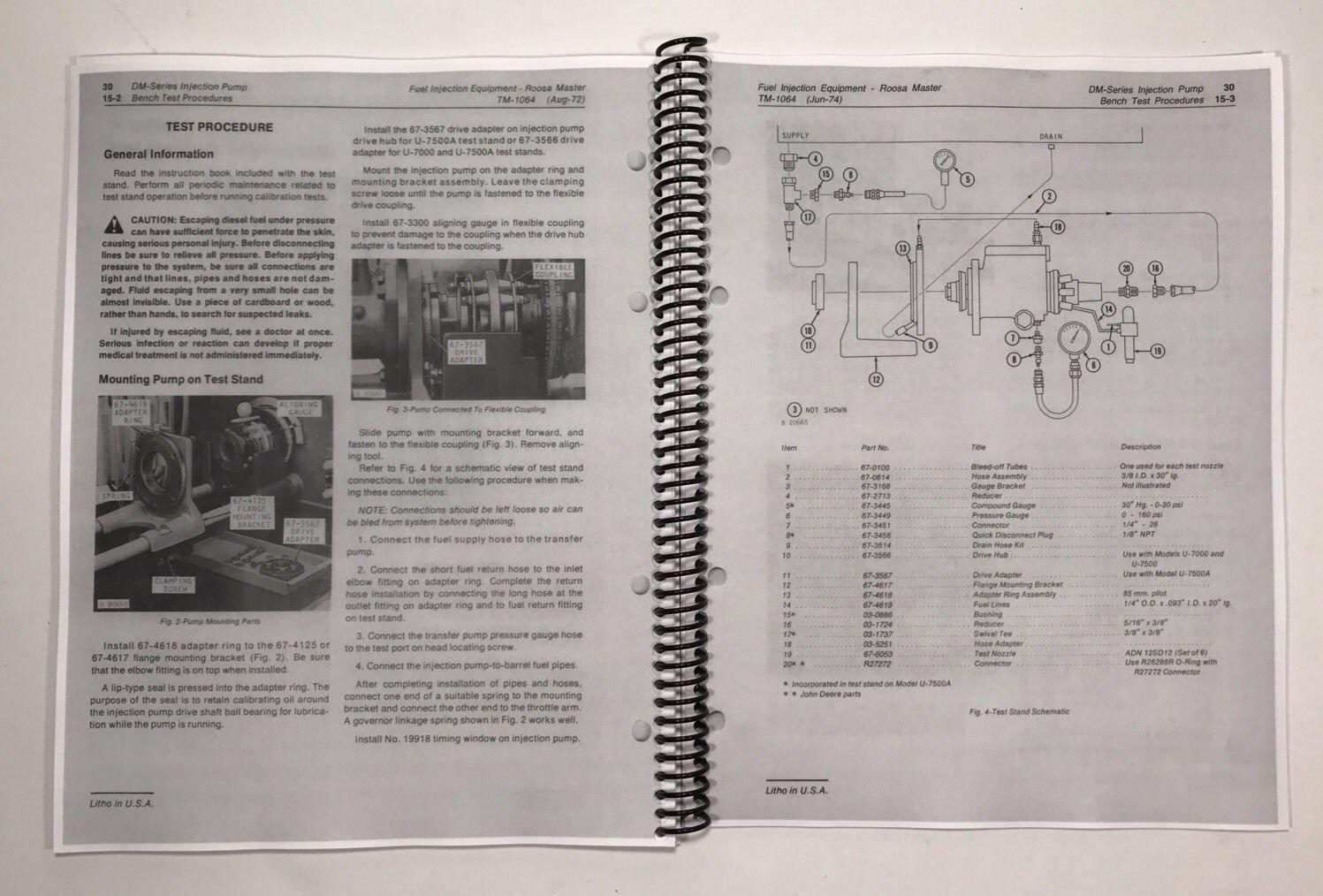 ROOSA MASTER FUEL INJECTION PUMP MANUAL JOHN DEERE Technical Service tests:  John Deere Manuals: 0766742552015: Amazon.com: Books