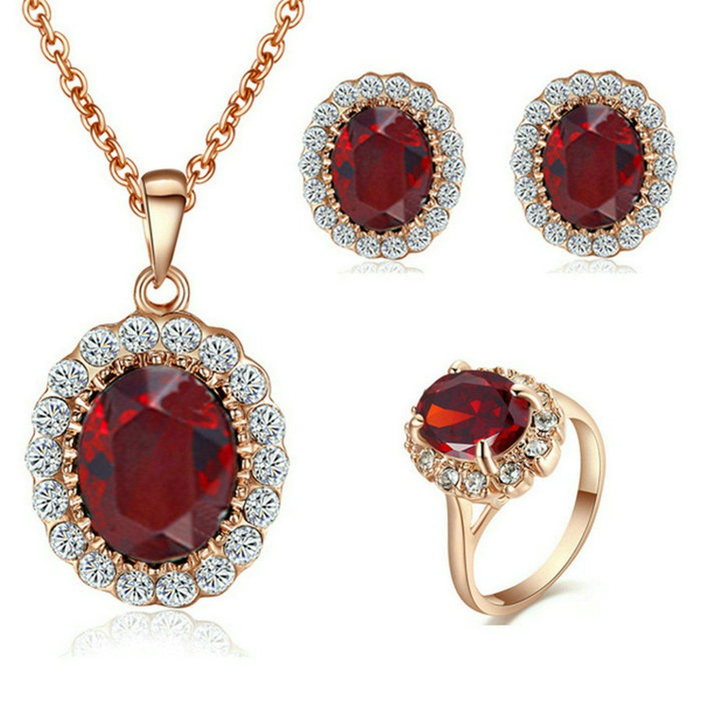 Yoursfs conjonto de joyas collar mujeres anillos mujer pendientes mujer oro rosa