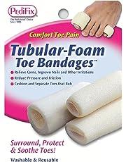 Pedifix Tubular-foam Toe Bandages, 3-Count (Pack of 2)