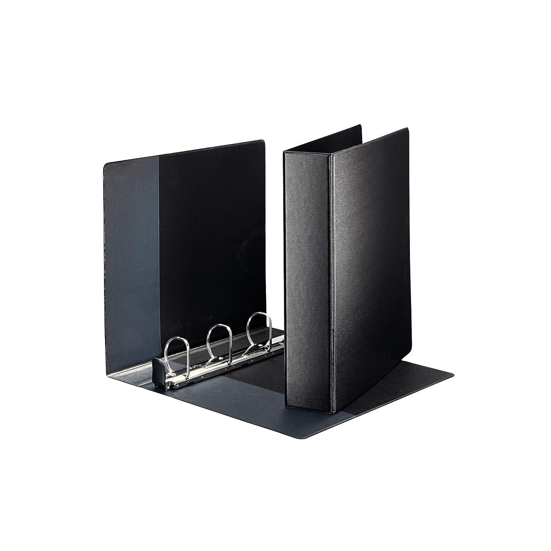 in polipropilene formato A4 colore: nero diametro: 40 mm Leitz Premium 46030095 Raccoglitore ad anelle con 4 anelli