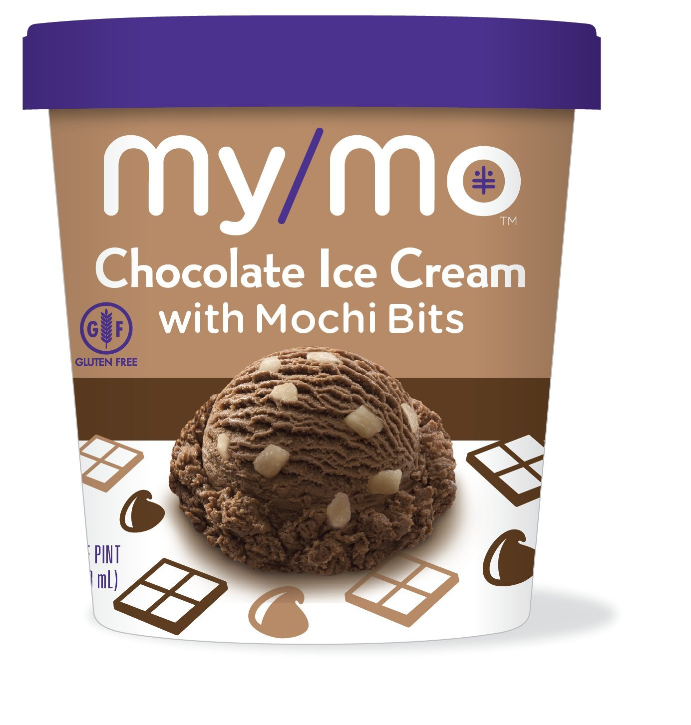 My/Mo Chocolate Ice Cream with Mochi Bits (8 pints)