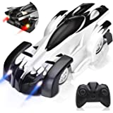 Remote Control Car, Rechargeable Wall Climbing Cars Dual Modes 360°Rotation Stunt 4WD RC Cars Vehicles Toys, Head Rear…